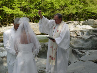 Pastor Buddy Performing Outdoor Wedding